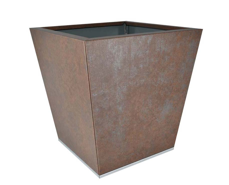 Birdies Flat-Pack pot Tapered 40 x 40 x 40cms - Weathered Iron finish
