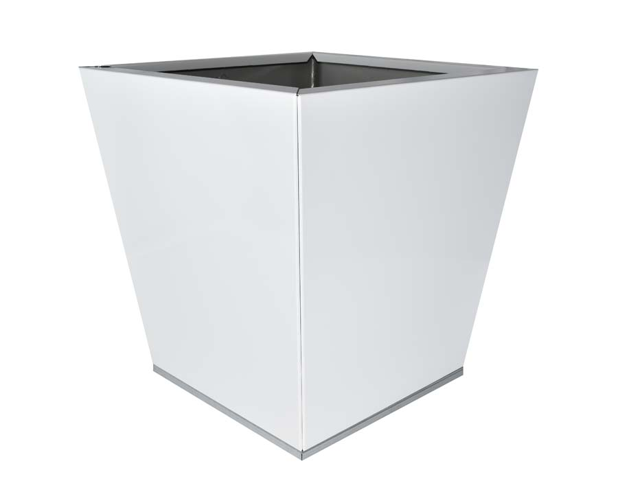 Birdies Flat-Pack pot Tapered 40 x 40 x 40cms - White finish