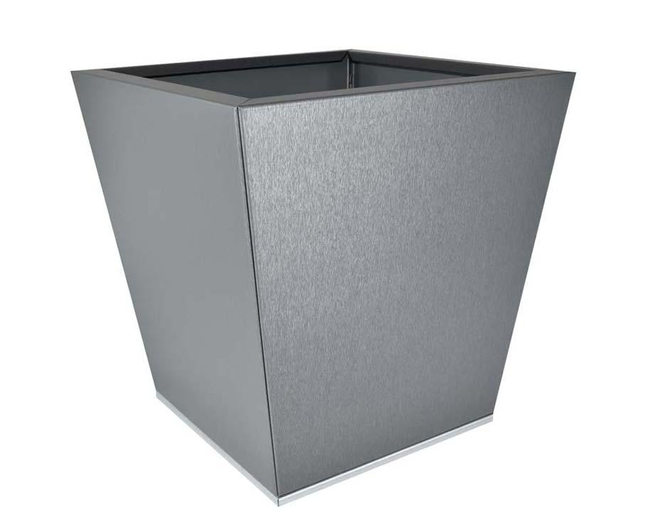 Birdies Flat-Pack pot Tapered 40 x 40 x 40cms - Zinc Graphite finish