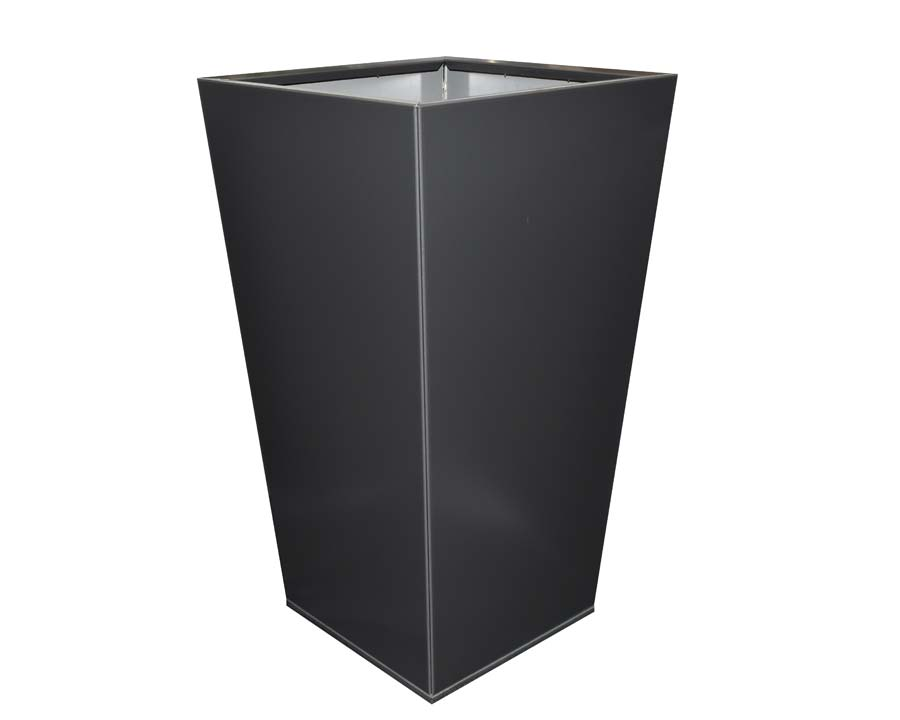 Birdies CBD Flat-Pack Pots, Tall Tapered 40 x 40 x 70cms Monolith finish