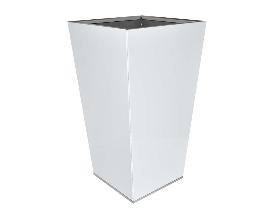 Birdies CBD Flat-Pack Pots, Tall Tapered 40 x 40 x 70cms White finish