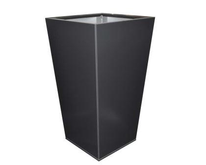 Birdies Flat-Pack Pots, Tall Tapered 40 x 40 x 70cms Monolith finish