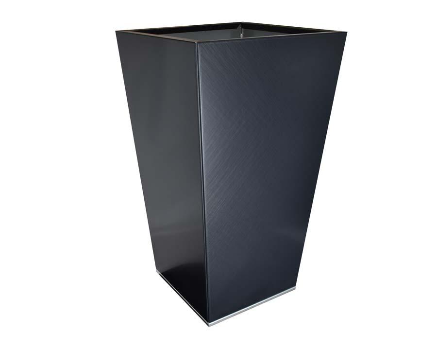 Birdies Flat-Pack Pots, Tall Tapered 40 x 40 x 70cms Saffiano finish
