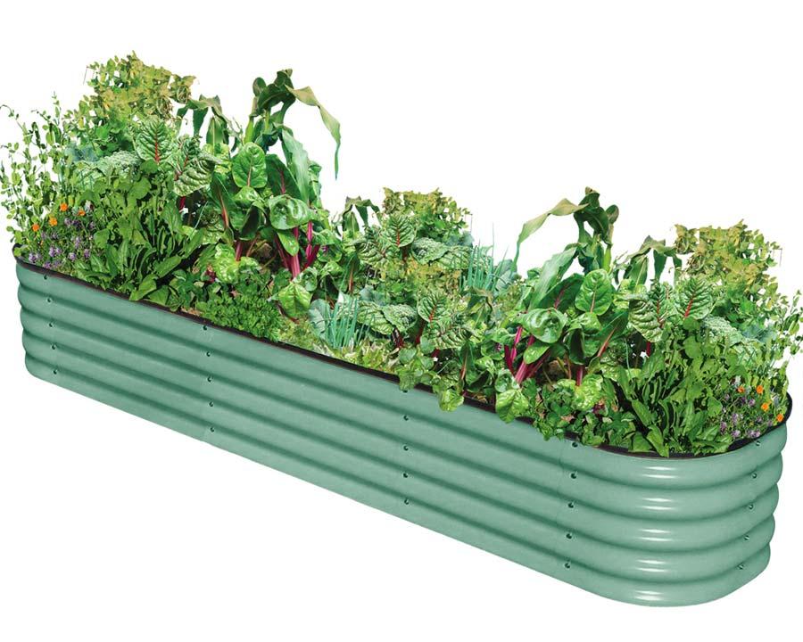Birdies Original Raised Garden Bed - Mist Green finish, 340mm high