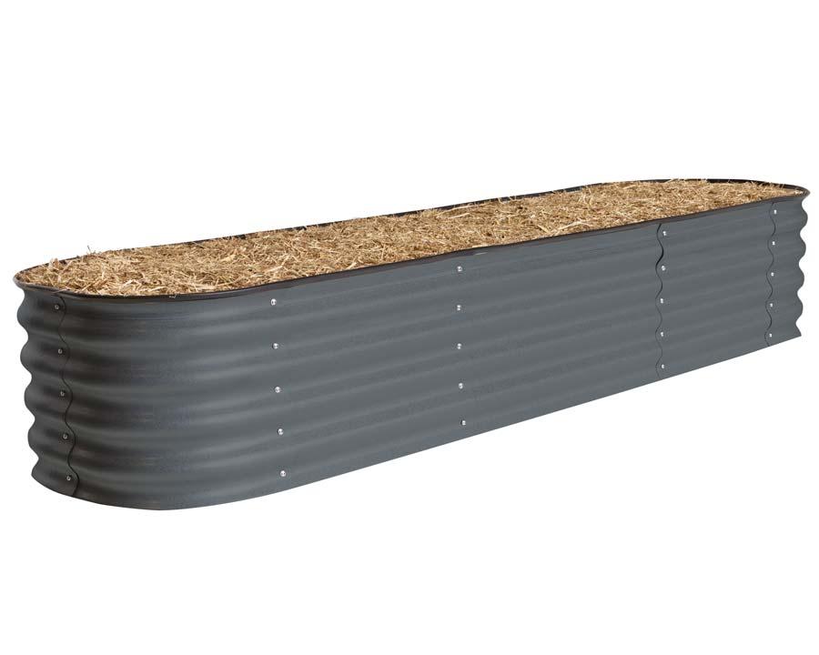 Birdies Original Raised Garden Bed - Slate Grey finish, 340mm tall