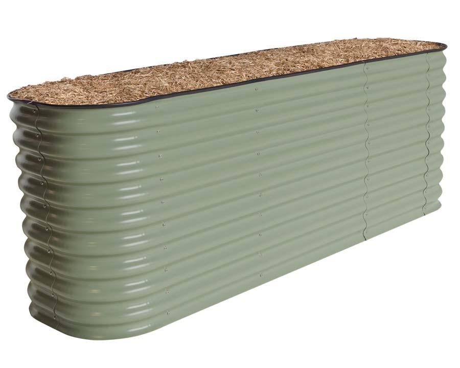 Birdies Original Raised Garden Bed in Mist Green finish - 740mm high