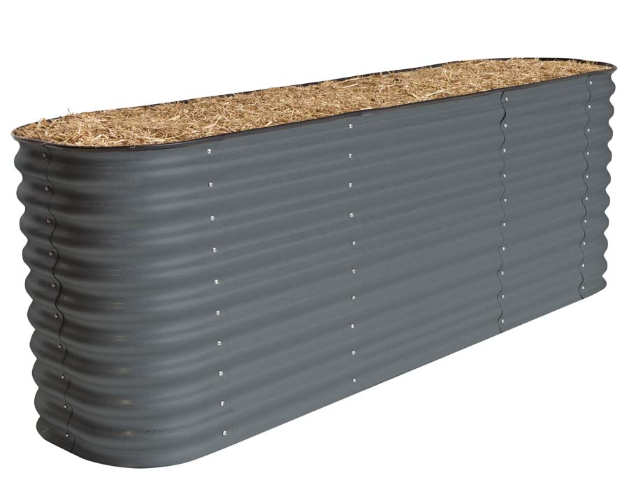 Birdies Original Raised Garden Bed in Slate Grey finish - 740mm high