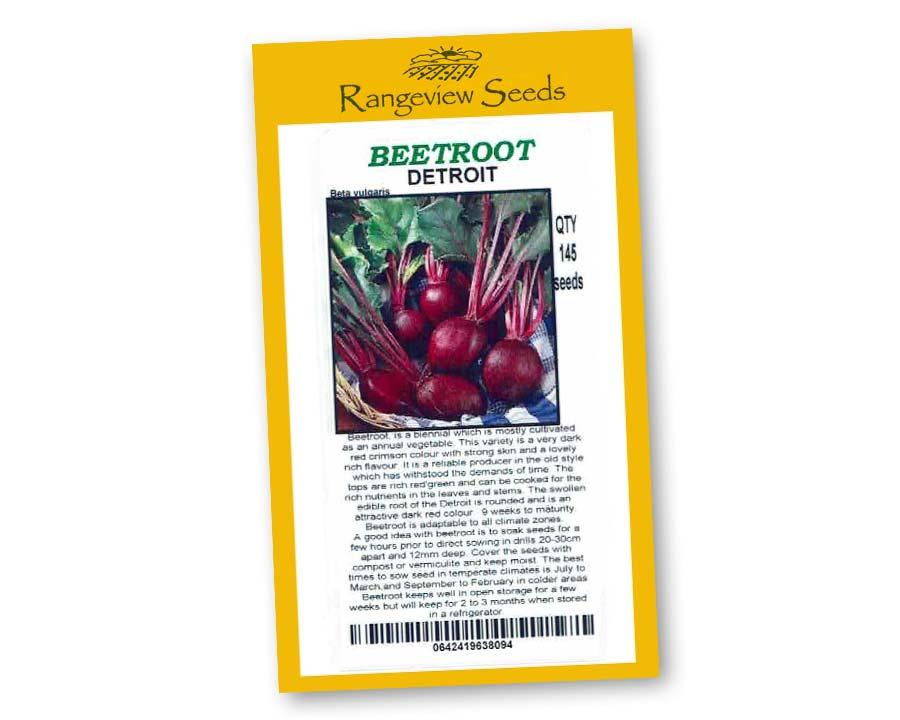 Beetroot Detroit Rangeview Seeds