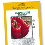 Capsicum Big Red - Rangeview Seeds