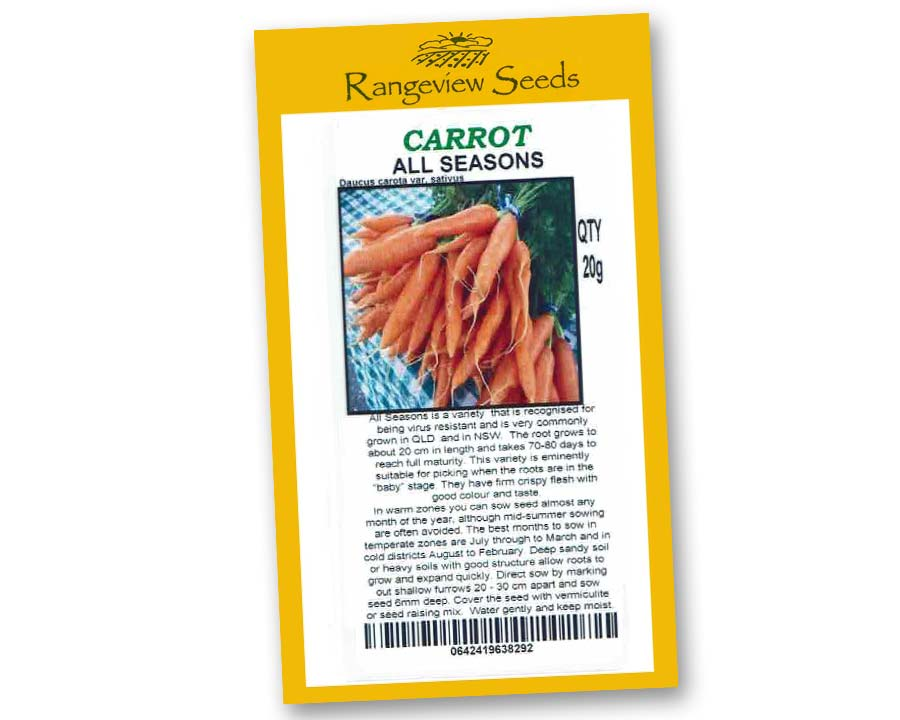 Carrot all Seasons - Rangeview Seeds
