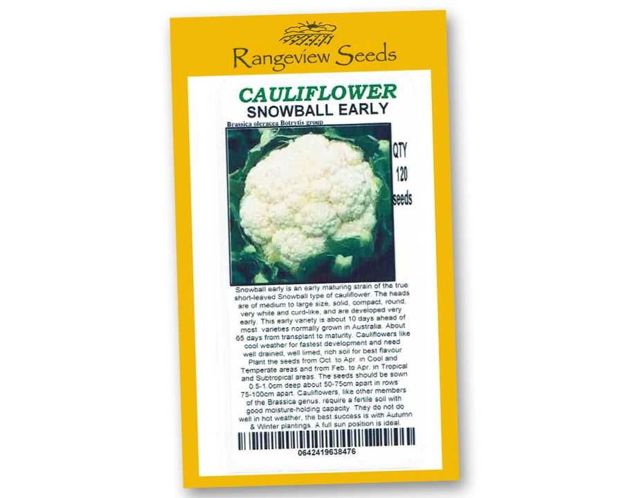 Cauliflower Snowball Early - Rangeview Seeds