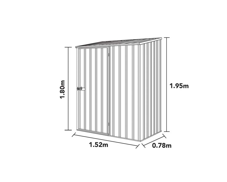 Dimensions of ABSCO Space Saver shed 15081SK