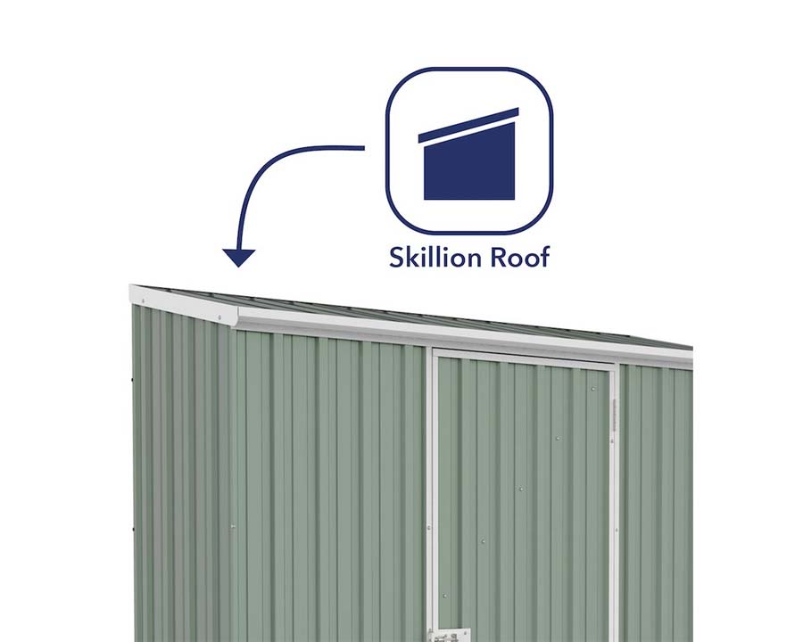 Skillion roof of Space Saver Storage Unit 23081SK