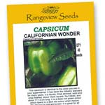 Capsicum Californian Wonder - Rangeview Seeds