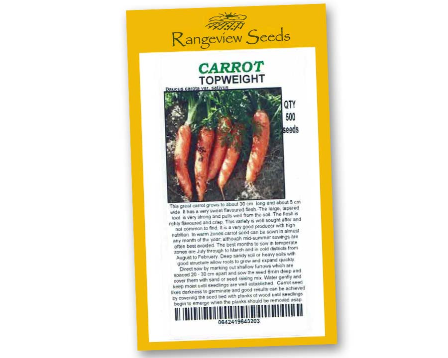 Carrot Topweight - Rangeview Seeds