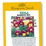 Viola Bambini Mix - Rangeview Seeds