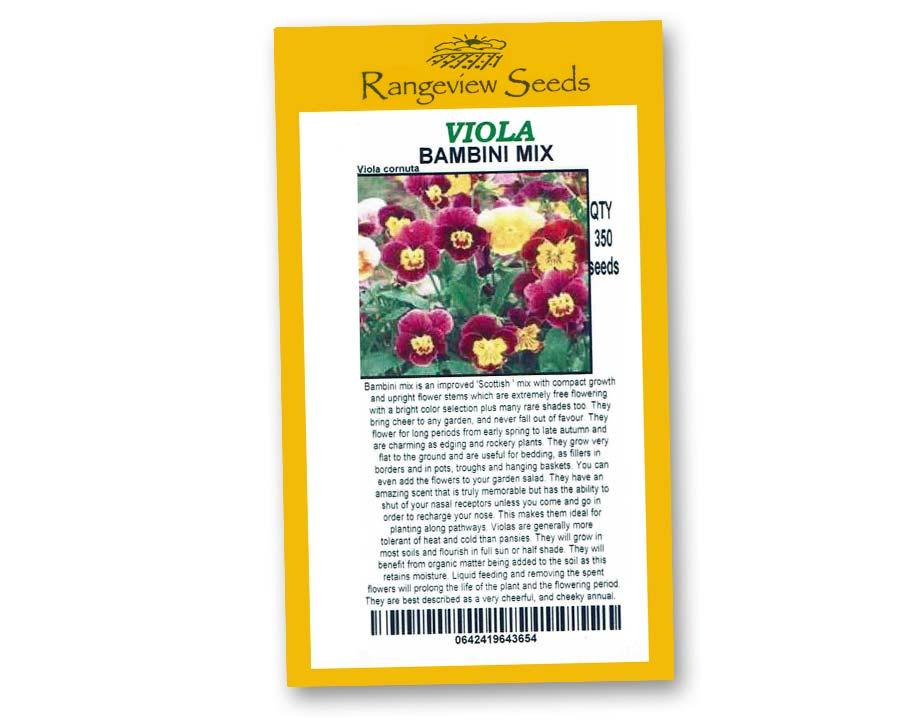 Viola Bambini Mix - Rangeview Seeds