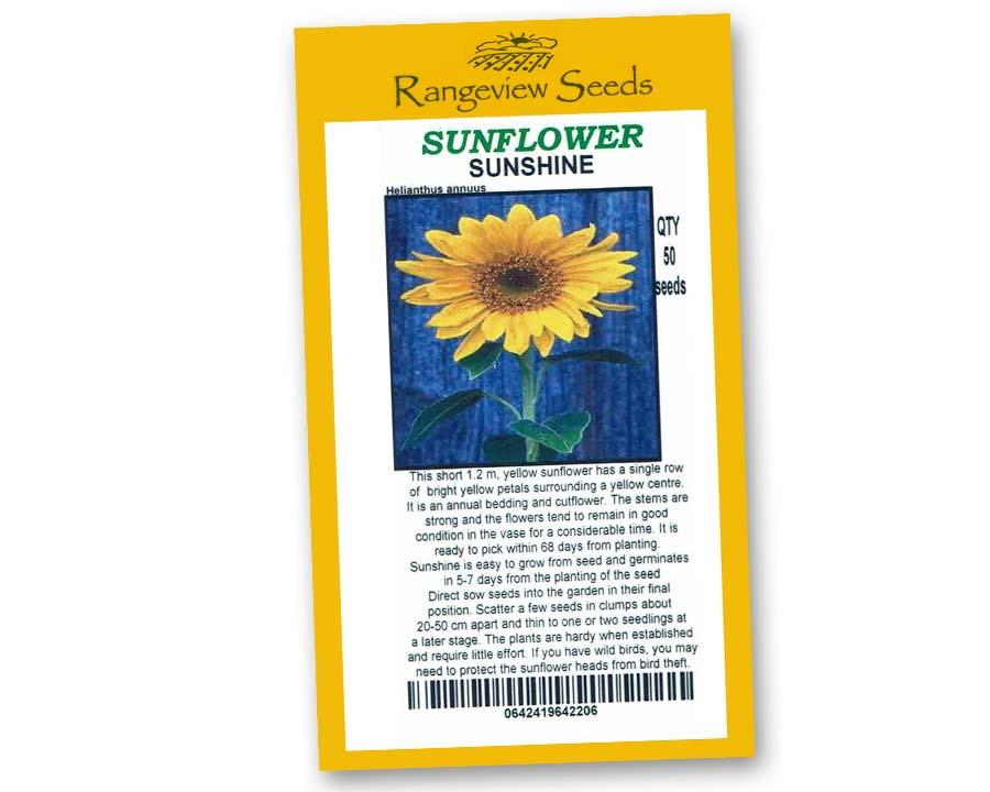 Sunflower Sunshine - Rangeview Seeds
