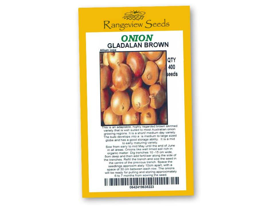 Onion Gladalan Brown - Rangeview Seeds