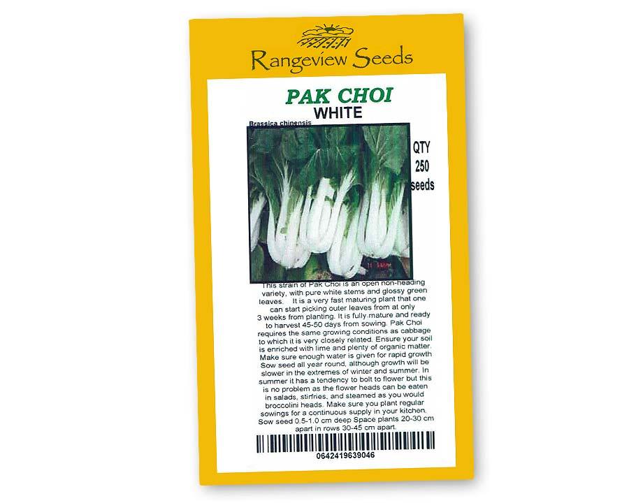 Pak Choi White - Rangeview Seeds