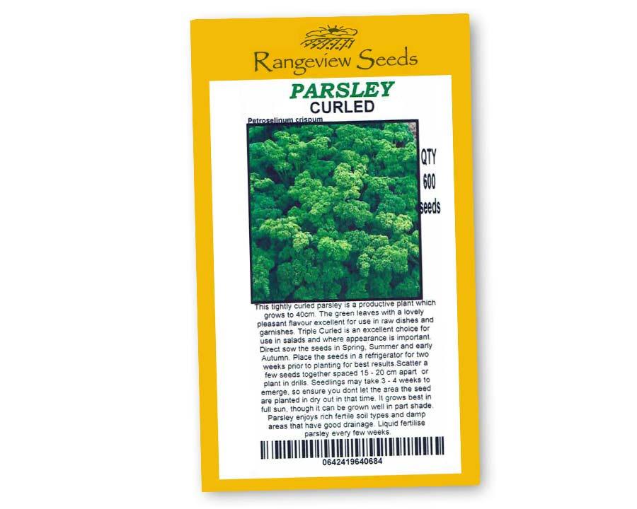 Parsley Curled - Rangeview Seeds