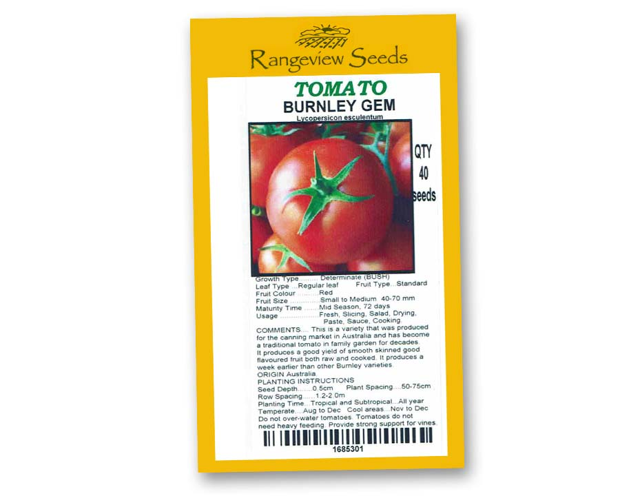 Tomato Burnley Gem - Rangeview Seeds