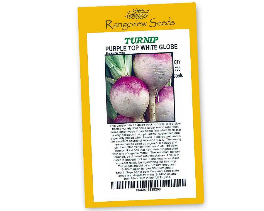 Turnip Purple Top White Globe - Rangeview Seeds