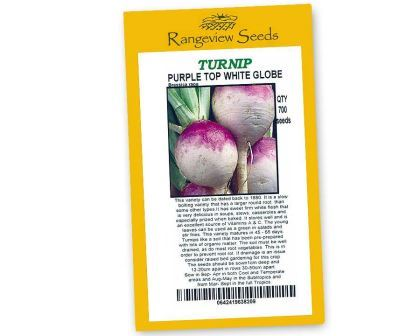 Turnip Purple Top White Globe - Rangeview Seeds