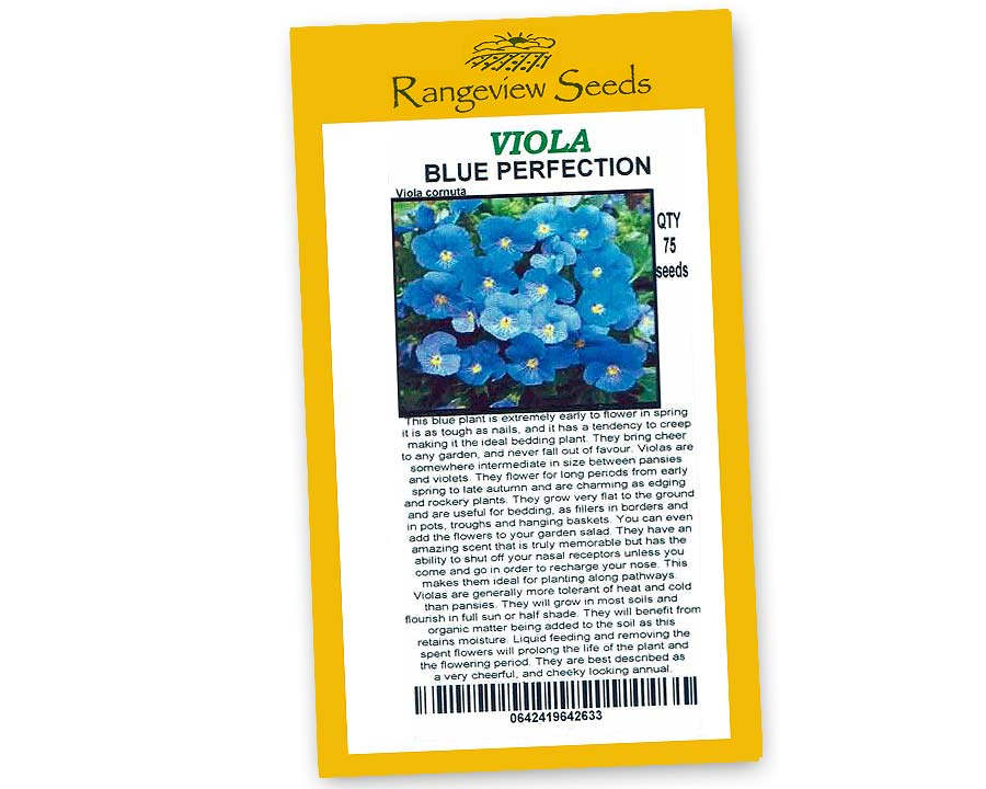 Viola Blue Perfection - Rangeview Seeds