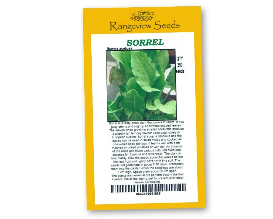 Sorrel - Rangeview Seeds
