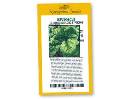 Spinach Bloomsdale Long Standing - Rangeview Seeds
