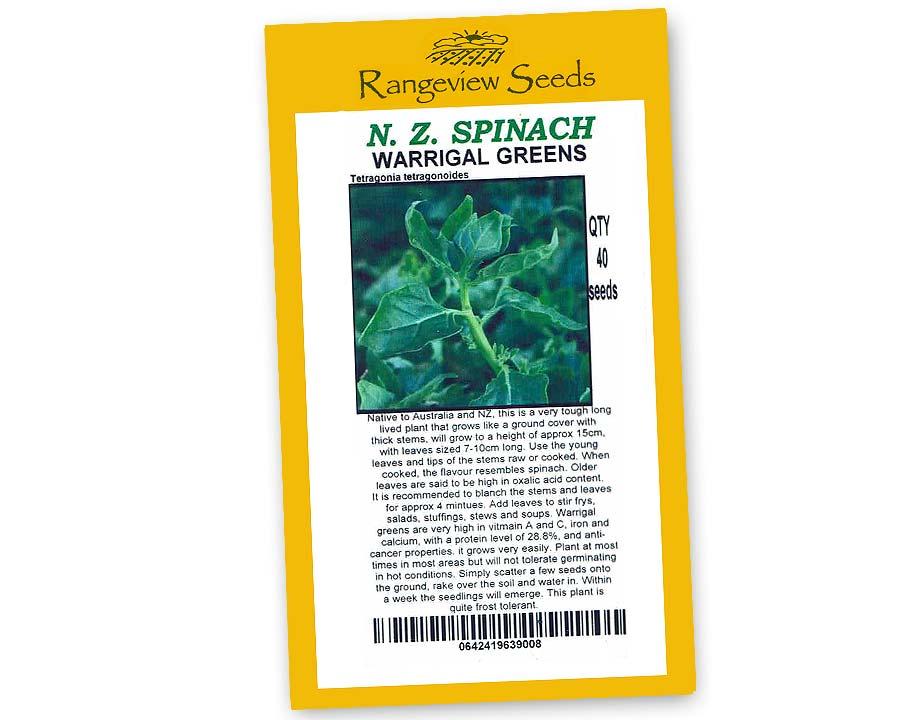 new Zealand Spinach Warrigal Greens - Rangeview Seeds