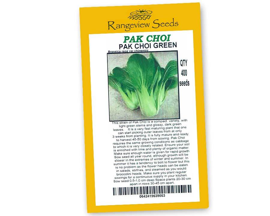 Pak Choi Green - Rangeview Seeds