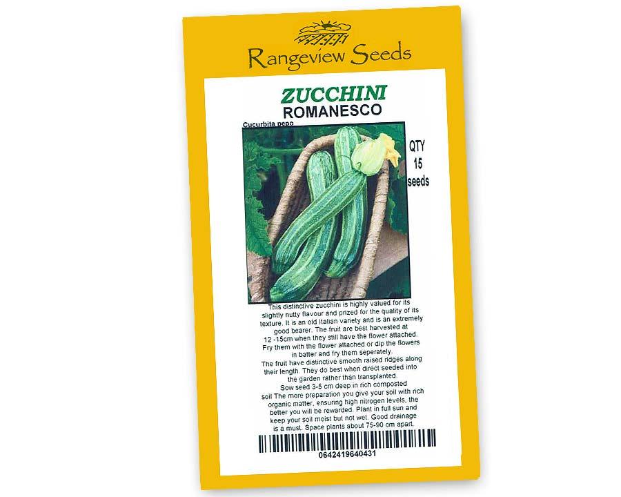 Zucchini Romanesco - Rangeview Seeds