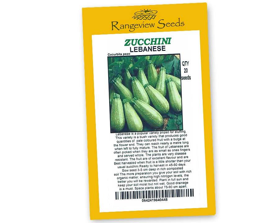 Zucchini Lebanese - Rangeview Seeds