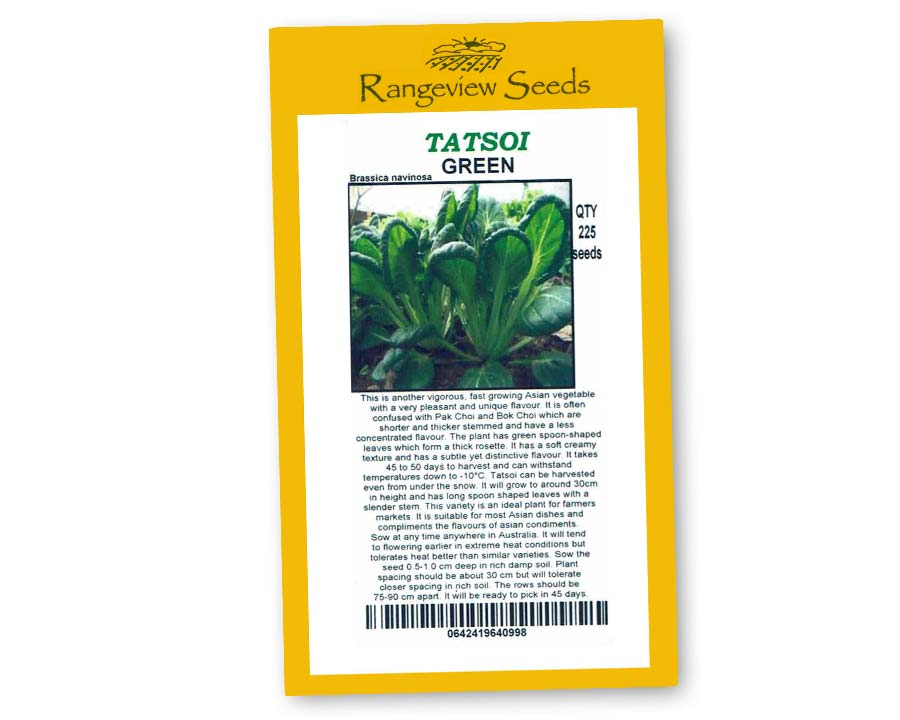 Tatsoi Green - Rangeview Seeds