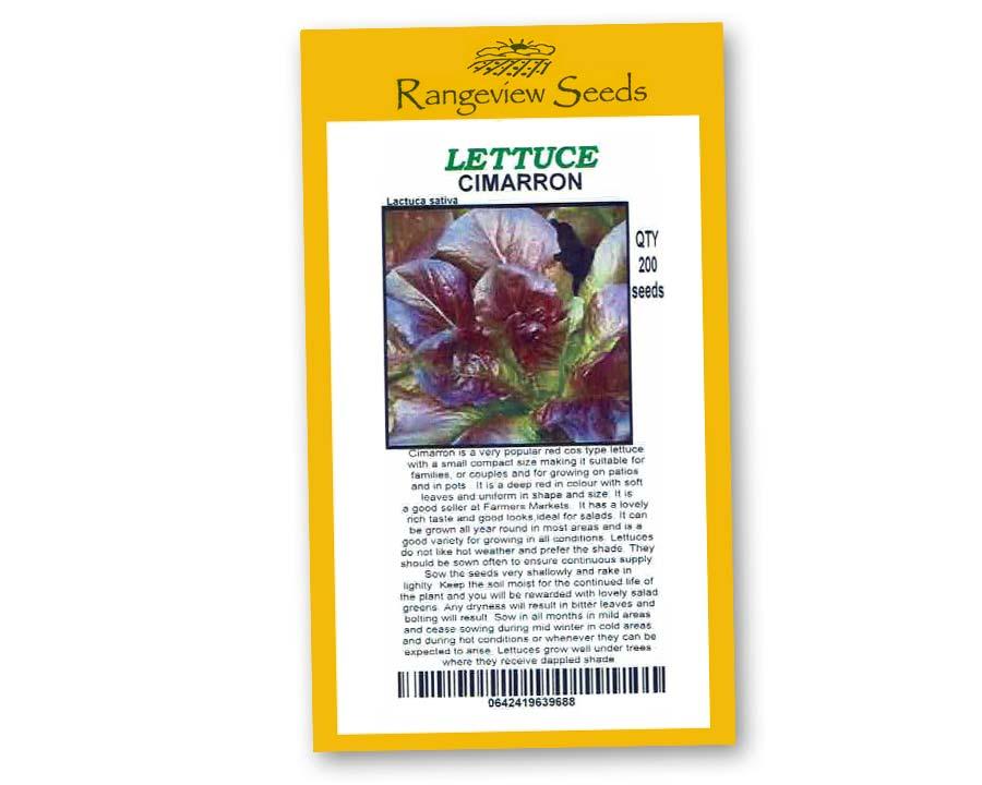 Lettuce Cimarron - Rangeview Seeds