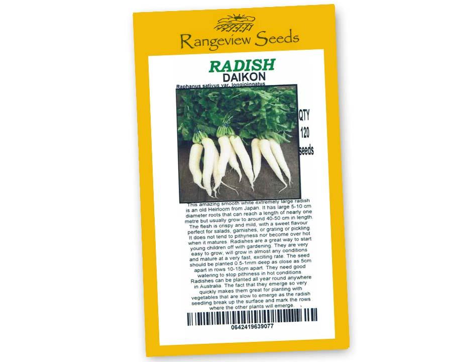 Radish Daikon - Rangeview Seeds