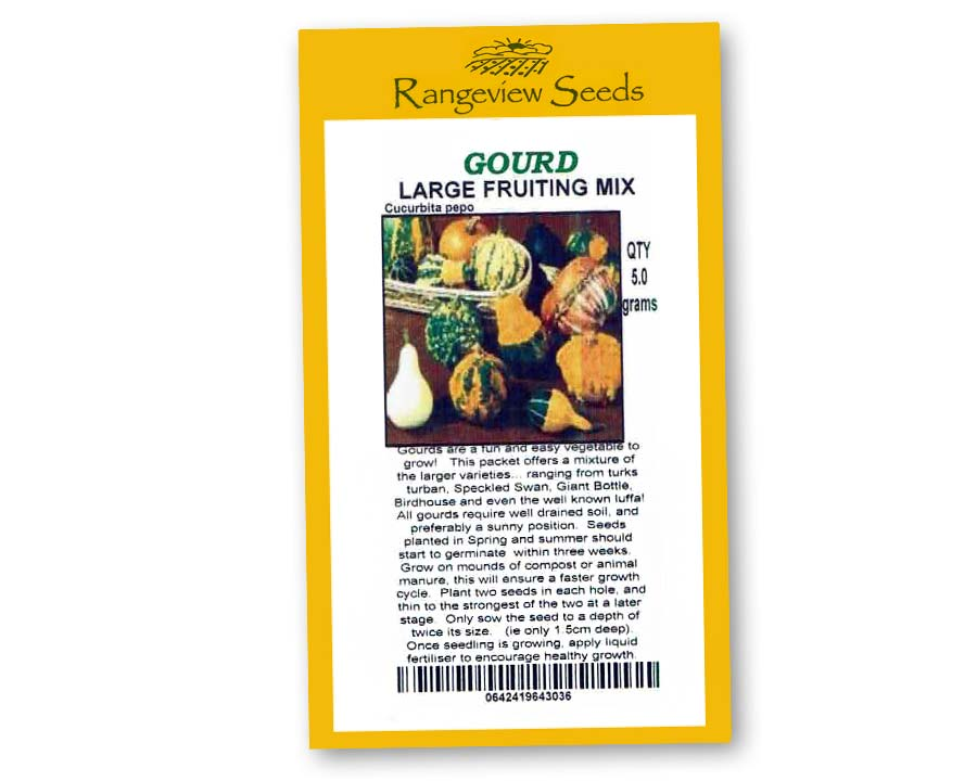 Gourds Large Fruiting Mix - Rangeview Seeds