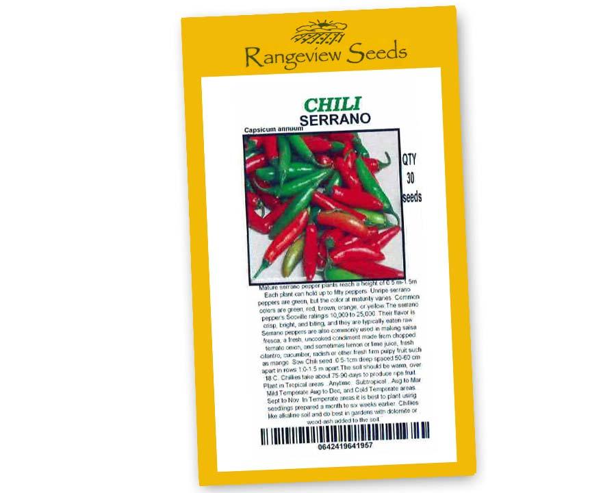 Chili Serrano - Rangeview Seeds