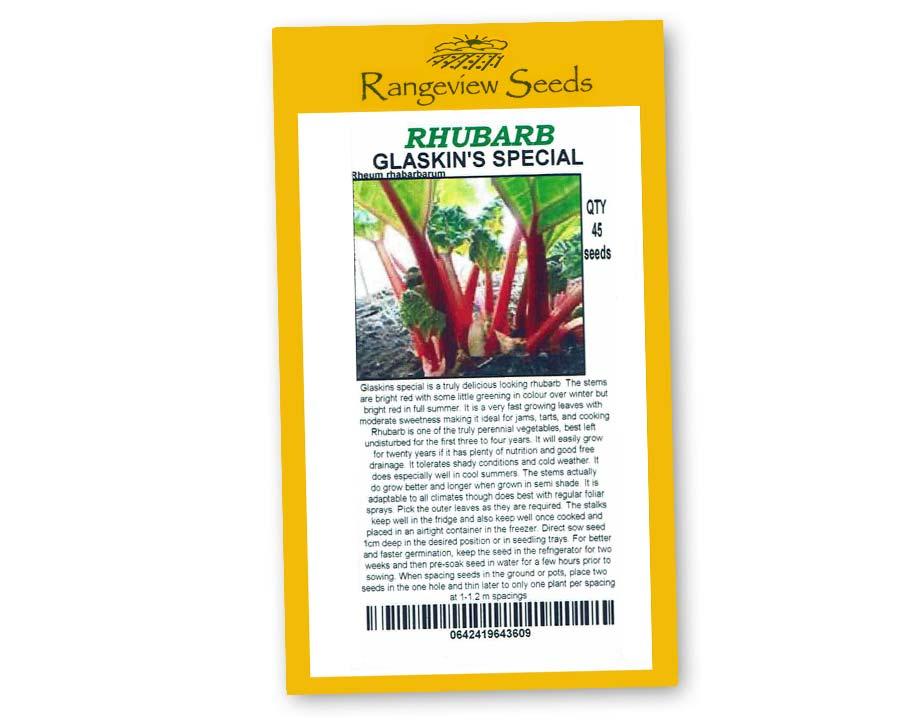 Rhubarb Glaskins Special - Rangeview Seeds