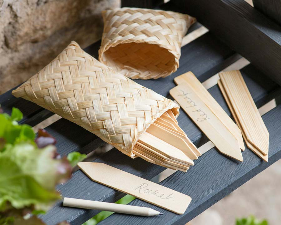 Garden Labels in Bamboo Bag
