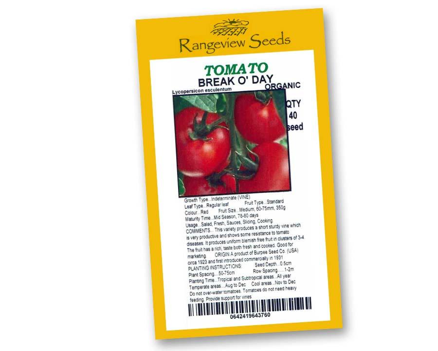 Tomato Break 'O Day - Rangeview Seeds