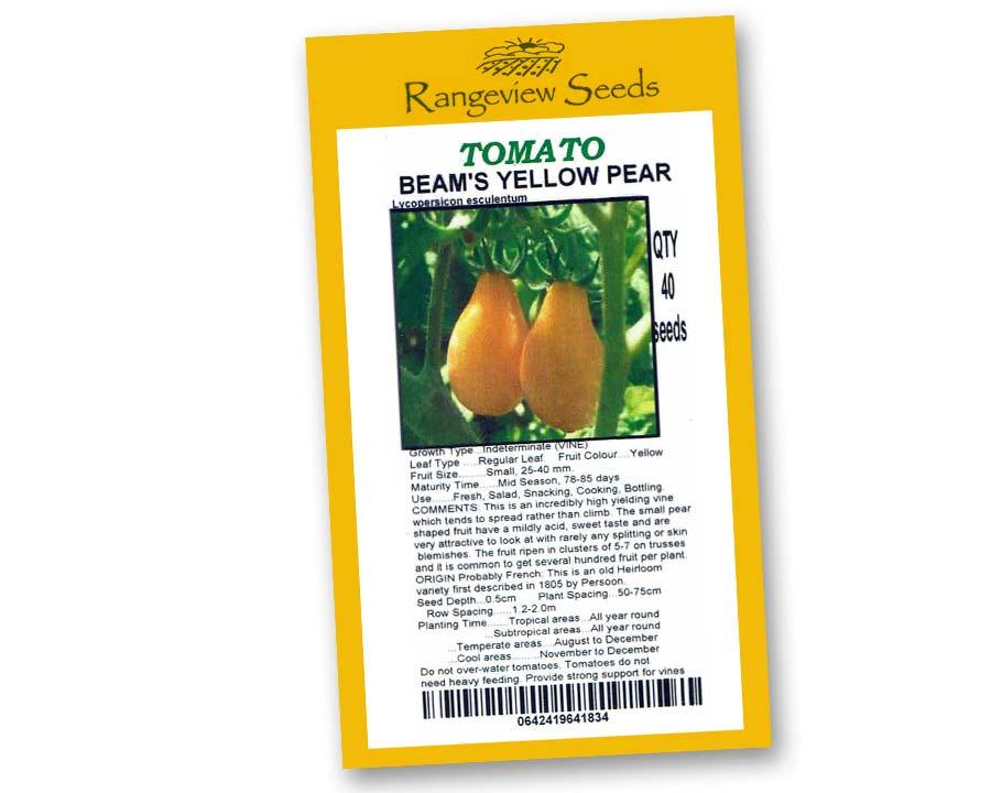 Tomato Beam's Yellow Pear - Rangeview Seeds