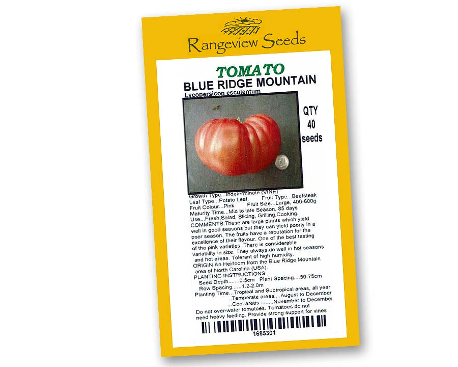 Tomato Blue Ridge Mountain - Rangeview Seeds
