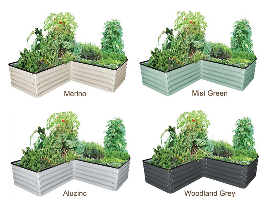 Birdies 'L' Shaped Raised Garden Bed - colours available