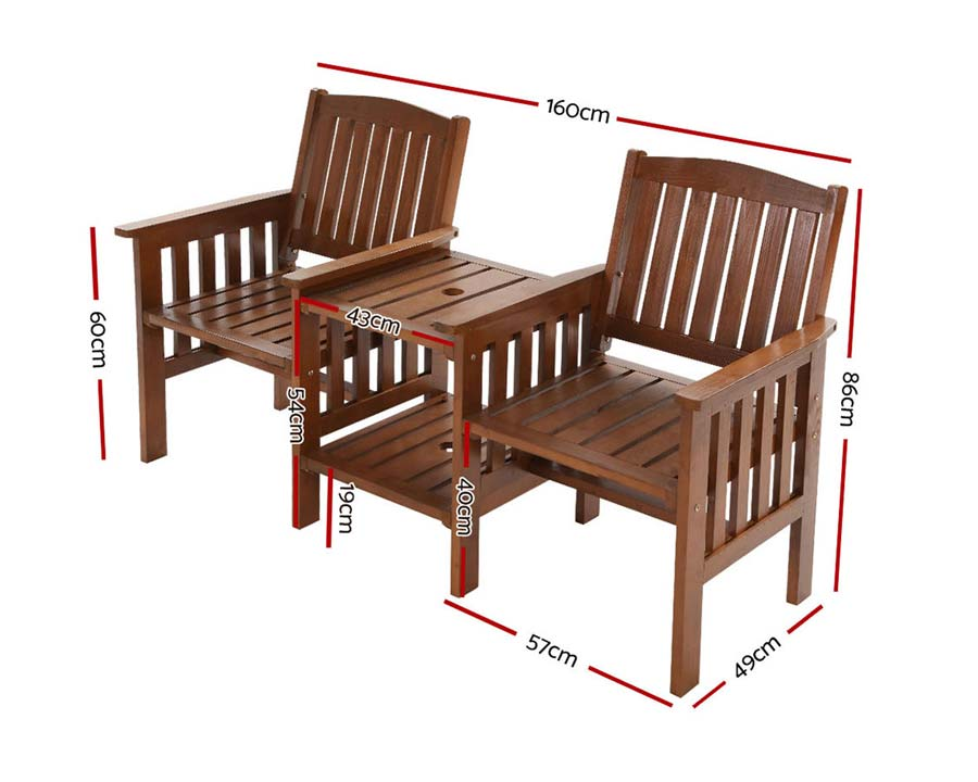 2 Seater Garden Armchairs and Table