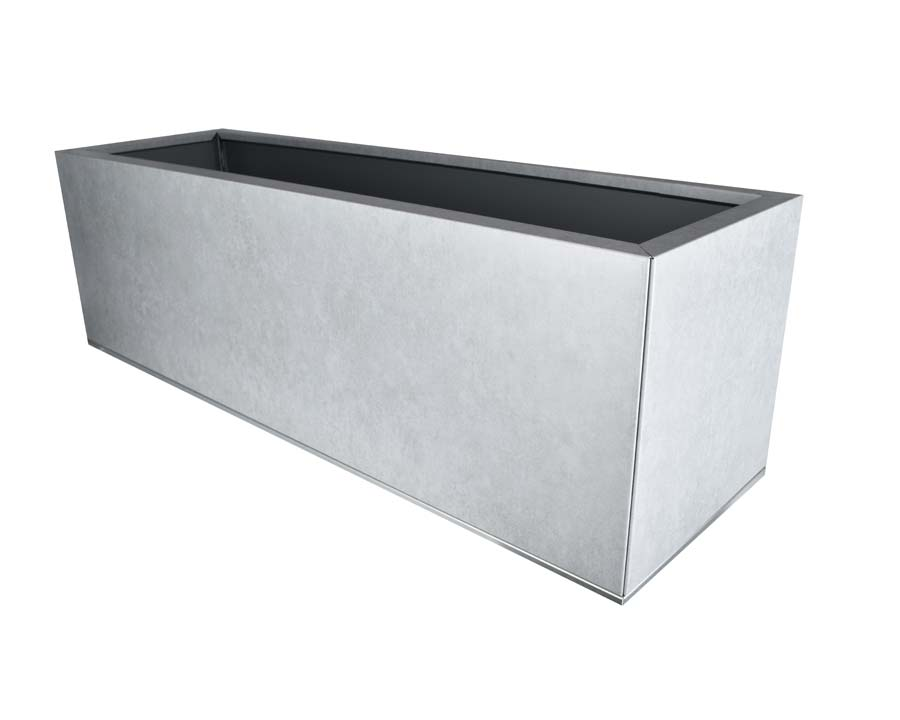 Birdies flat-packed planter 100x30x30 - Metal Stone