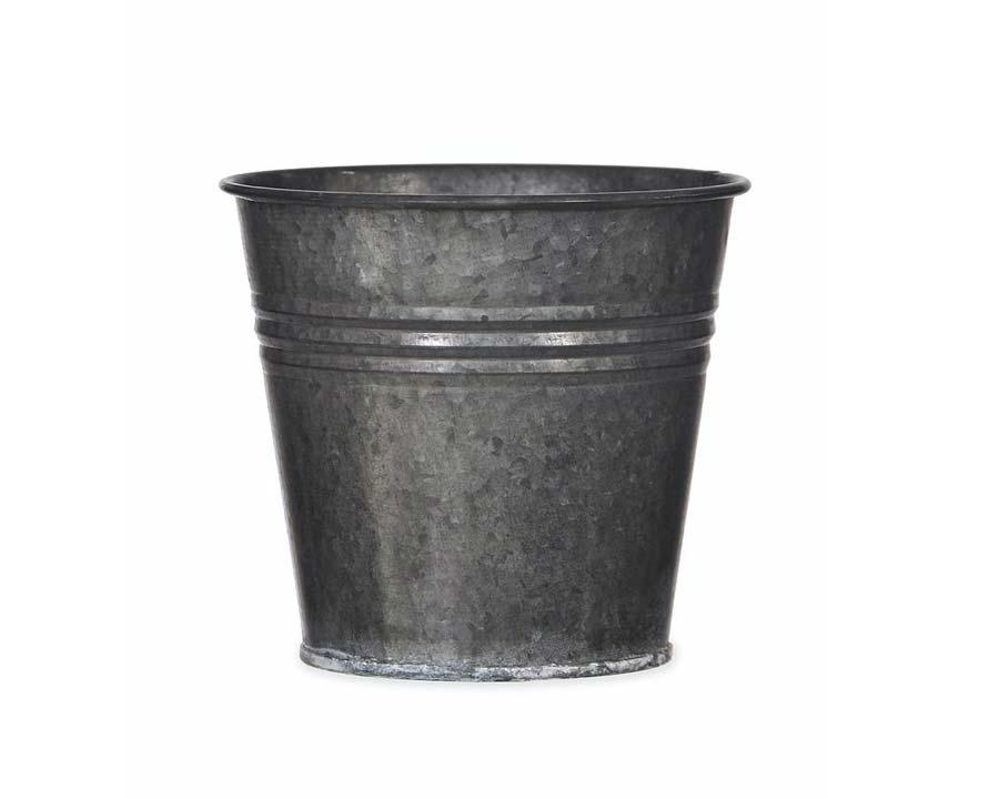 Winson Plant Pot in Black Galvanised - Burgon & Ball