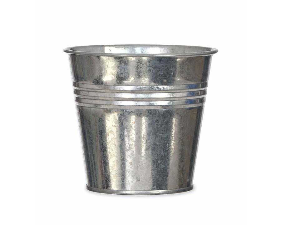 Winson Plant Pot in Silver Galvanised - Burgon & Ball